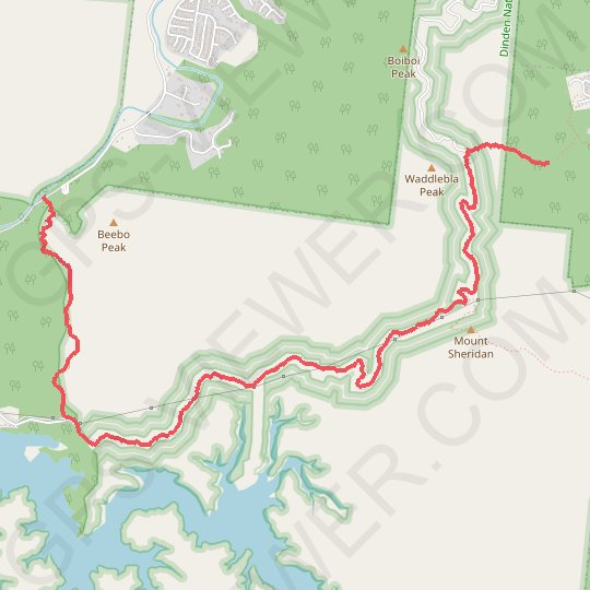 Waddlebla - Crystal Cascades GPS track, route, trail